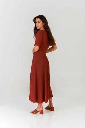 Vestido midi Terracota