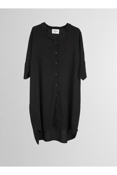 Vestido camisero Negro