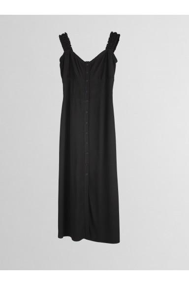 Vestido midi Negro
